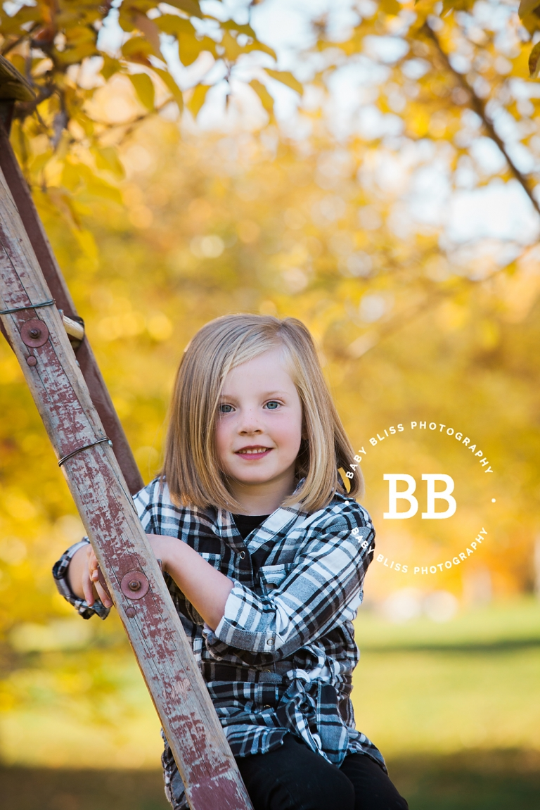 Beautiful Autumn Portraits with Baby Bliss Photography; Vernon Photographer