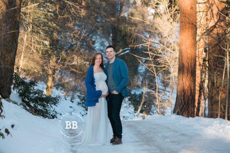 Kelowna Maternity Photos with Baby Bliss Photography